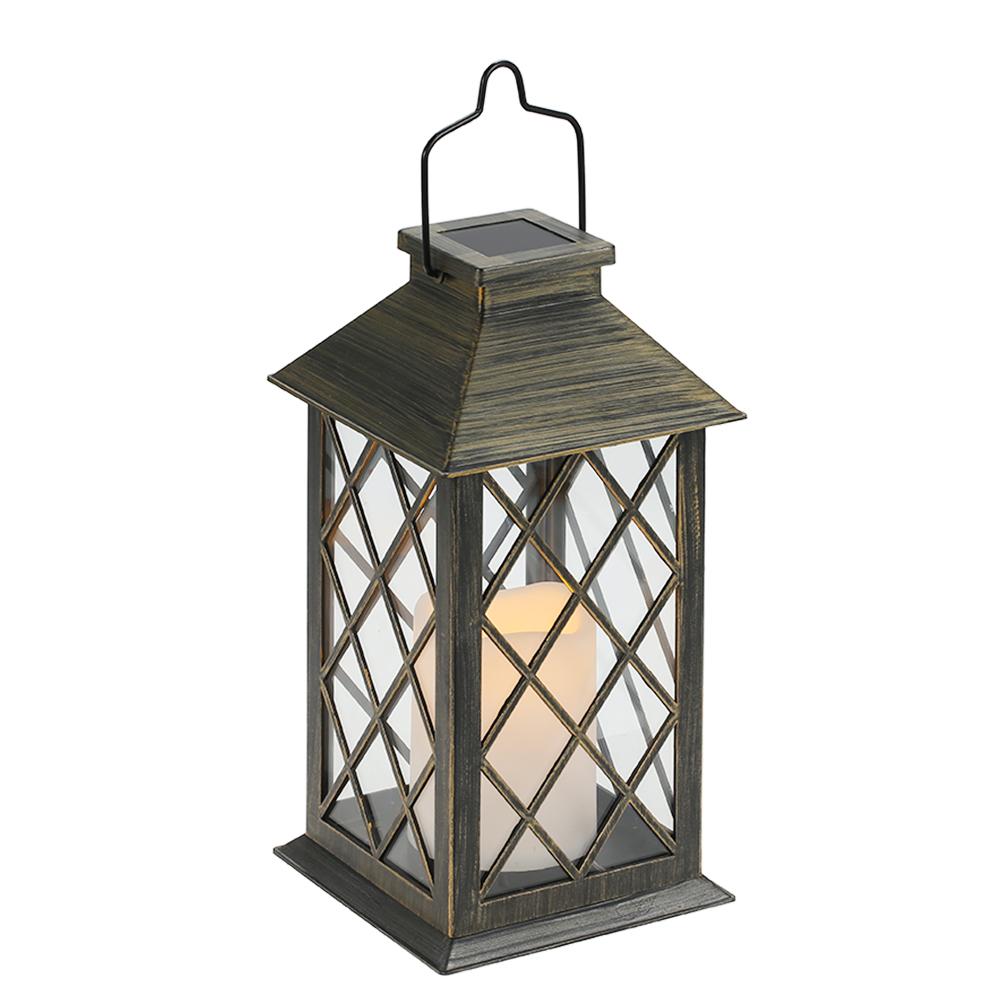 Camping Lanterne DEL Lampe de position Extérieure Lampe Solaire Jaune Jardin éclairage