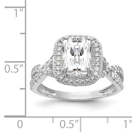 10k White Gold Cubic Zirconia Cz Band Ring Size 7.00 Fine Jewelry Gifts For Women For Her - image 4 of 9