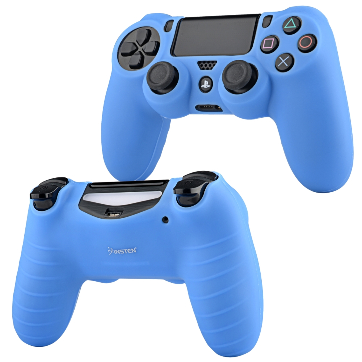 Insten Blue Silicone Skin Case For Sony PS4 Remote Controller