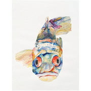 "Trademark Art ""Blue Fish"" Canvas Art by Pat Saunders-White"