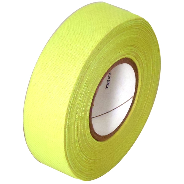 Fluorescent Yellow Cloth Hockey Stick Tape 1 inch x 20 yards