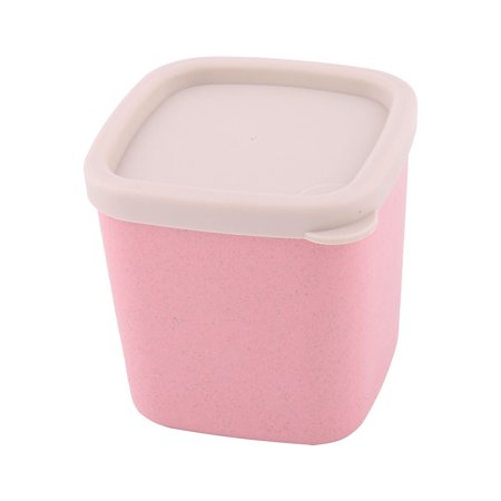 Home Kitchen Sugar Seasoning Salt Cheese Container Food Storage Box Holder Pink