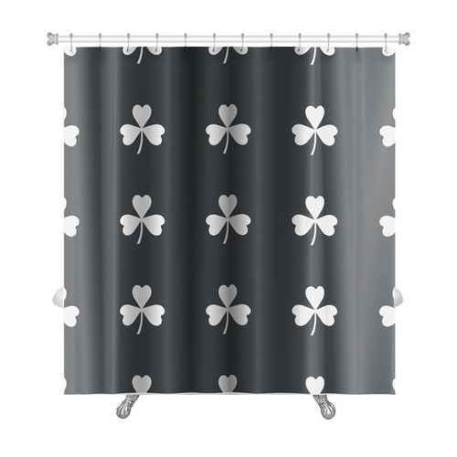 Gear New Slide Image of Clover Leaf Repeated Premium Shower Curtain