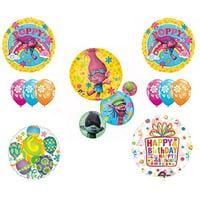 TROLLS Movie 11 pc Funkadelic Happy Birthday Party Balloons Supplies