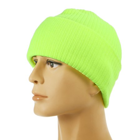 Pure Color Striped Warm Knitting Wool Beanie Outdoor Riding Unisex Knitted Hat