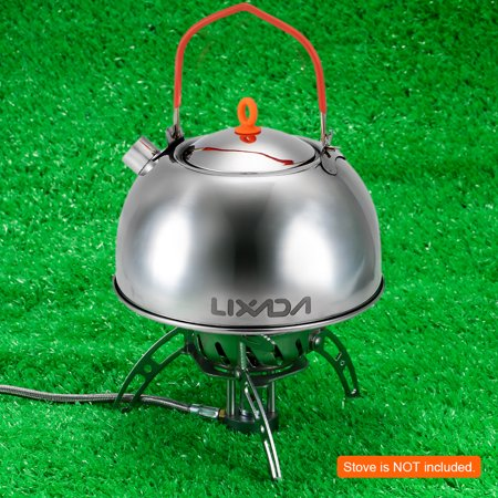 0.6L Stainless Steel Tea Kettle Portable Outdoor Camping Hiking Water Kettle Teapot Coffee Pot - image 4 de 7