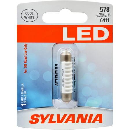 578 Series (SYLVANIA 578 WHITE SYL LED Mini Bulb, Pack of 1 )