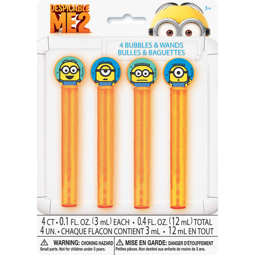 Despicable Me Bubbles Party Favors, 4ct