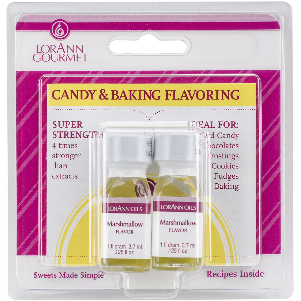 Candy & Baking Flavoring .125oz 2/Pkg-Marshmallow