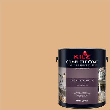 KILZ COMPLETE COAT Interior/Exterior Paint & Primer in One #LD130-01 Antiquarian Brass