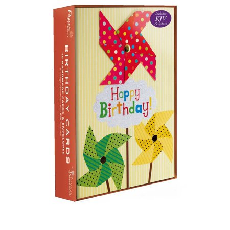 Handmade Assorted 10pk Birthday Boxed Cards with KJV Scripture for Her, Him, for Mom, Dad, for Son, Sister, or