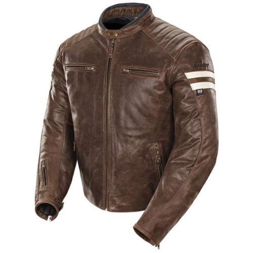 Joe Rocket Classic '92 Leather Jacket Brown/Cream MD