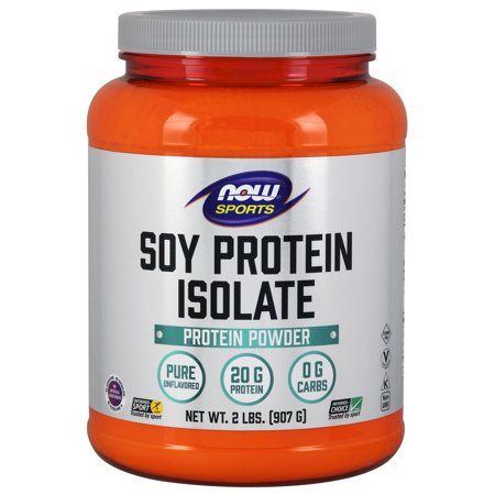 NOW Sports Nutrition, Soy Protein Isolate Powder, Unflavored, 2-Pound ()