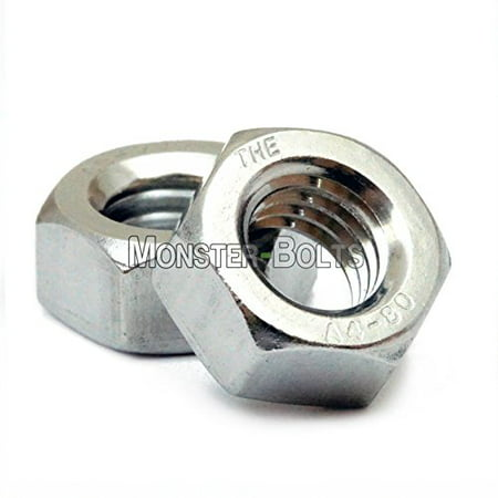 Marine Grade Stainless Steel Hex Nuts, A4 (316) DIN 934 - Metric M3 M4 M5 M6 M8 M10 Coarse - MonsterBolts (25, (316 Marine Grade Stainless Steel)