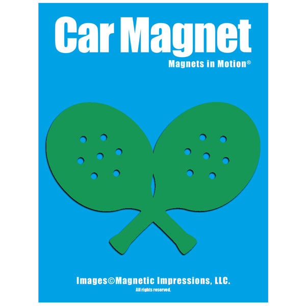 Paddle Tennis Player Car Magnet Chrome