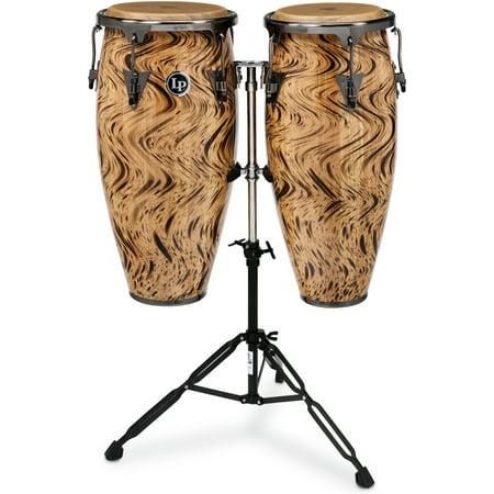 Latin Percussion LPA646-HC Aspire Havana Cafe Series 10/11 Congas Set w/Stand