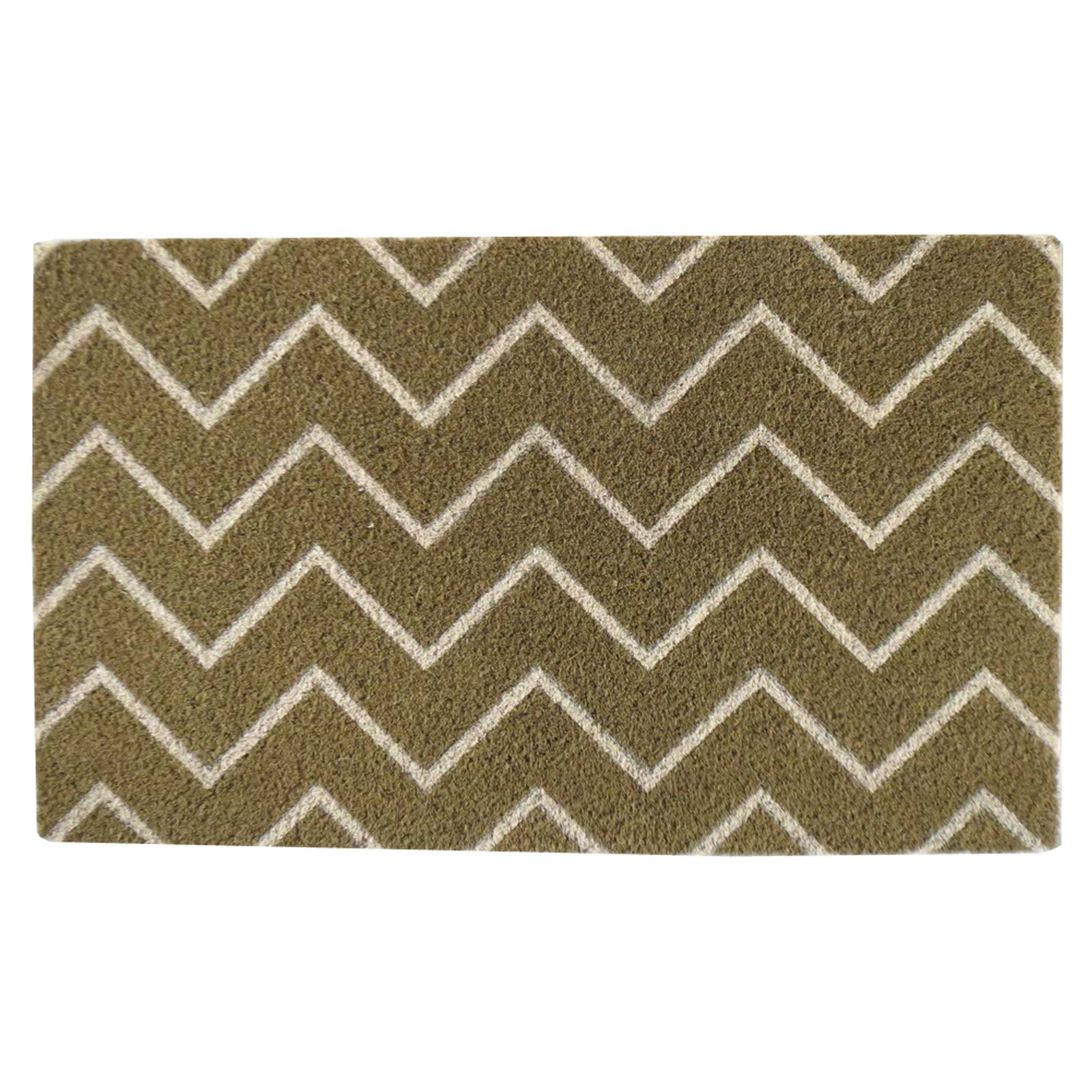 First Impression Tufted Chevron Outdoor Door Mat