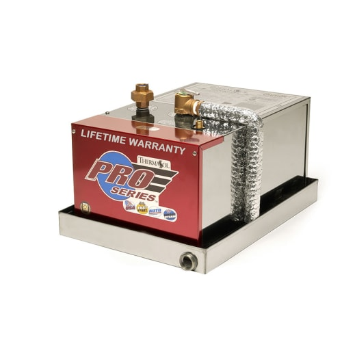 ThermaSol PRO-395 12 KW Steam Generator with SplitTank, FastStart and, Auto PowerFlush - Drain Pan Included