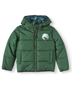 Jurassic Park Hooded Puffer Jacket (Little Boys)