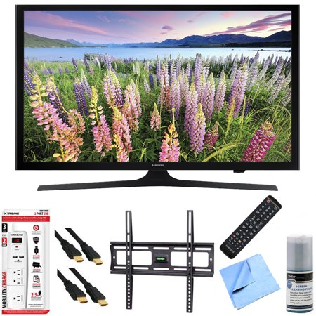 Samsung UN48J5200 – 48-Inch Full HD 1080p LED HDTV Mount & Hook-Up Bundle includes UN48J5200 48-Inch Full HD 1080p LED HDTV, Flat Wall Mount Kit, 6 Outlet/2 USB Wall Tap and Microfiber Cleaning Cloth