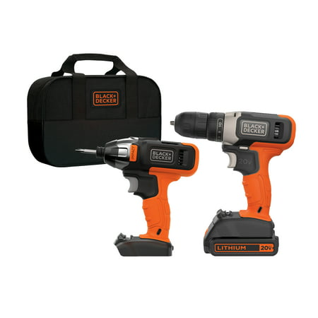BLACK+DECKER 20V MAX* 2 Tool Cordless Drill and Impact Driver Combo Kit
