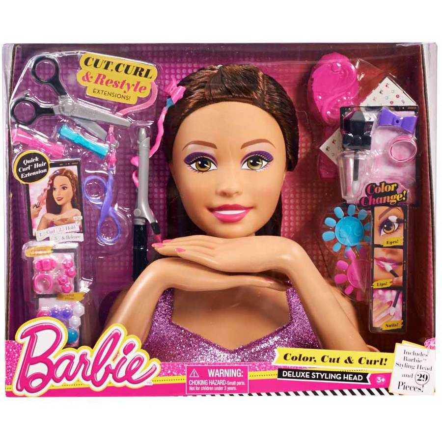 Barbie Color, Cut and Curl Styling Head, Teresa