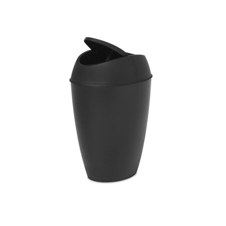 Umbra 1009613-040 2.2 gal Twirla Trash Can with Swing-top Lid - Black - image 1 of 1