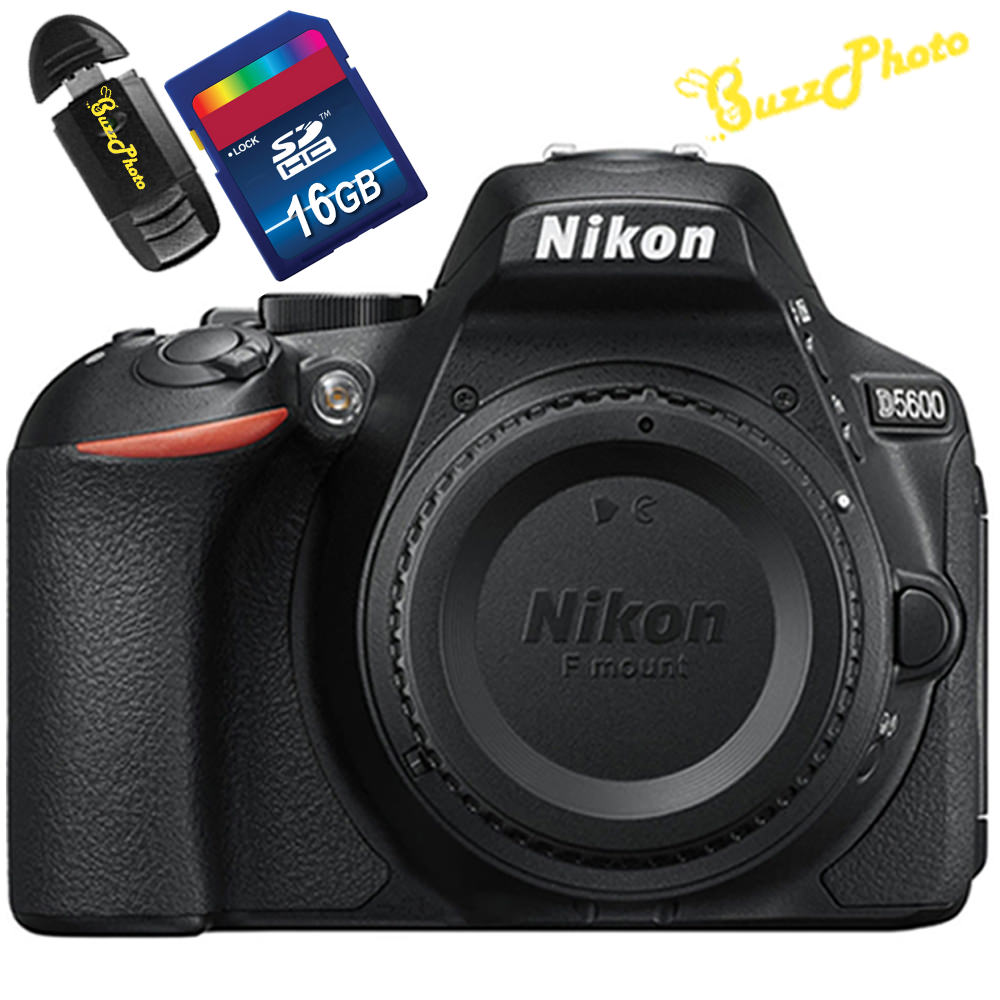 Nikon D5600 DSLR Camera (Body Only) with Free BuzzPhoto Accessories
