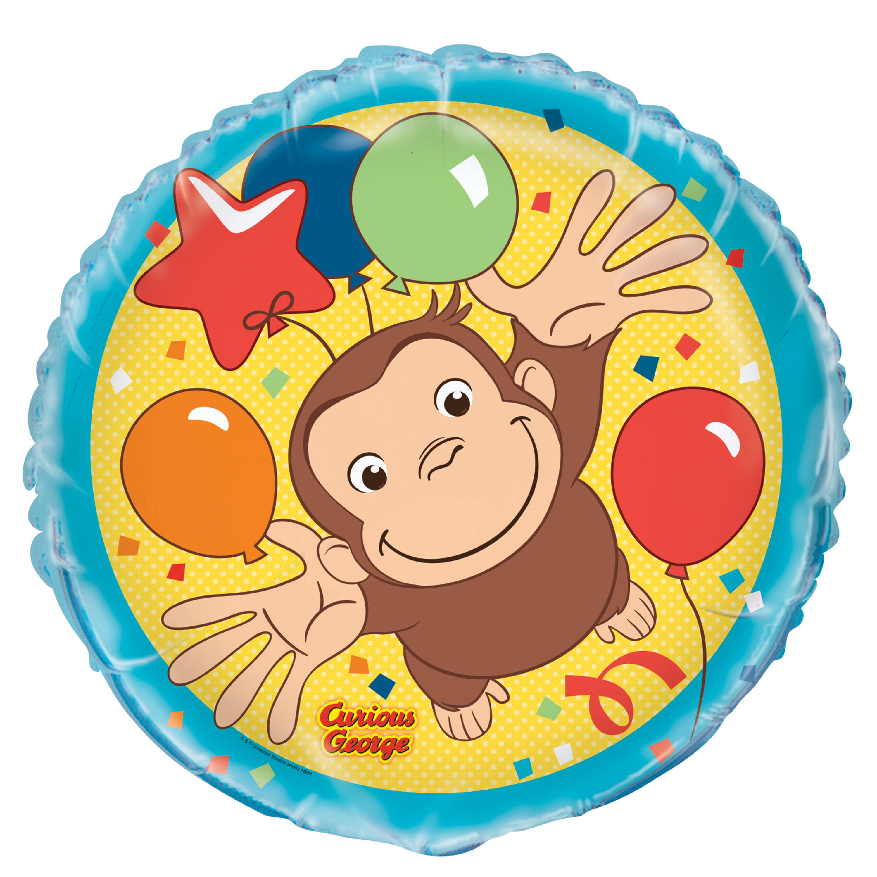 Foil Curious George Balloon, 18 in, 1ct