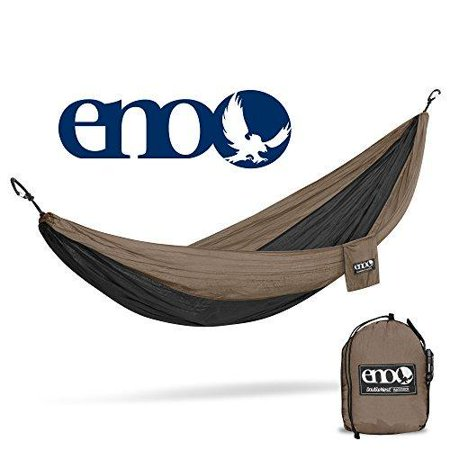ENO Eagles Nest Outfitters - DoubleNest Hammock, Portable Hammock for Two, Khaki/Black ()