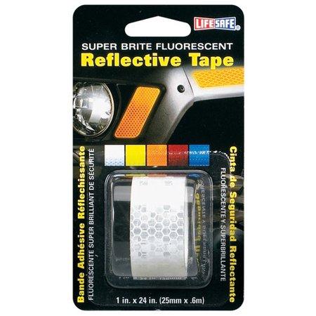 """Incom RE182 1"""" x 24"""" Silver Super Brite Fluorescent Reflective Tape"""