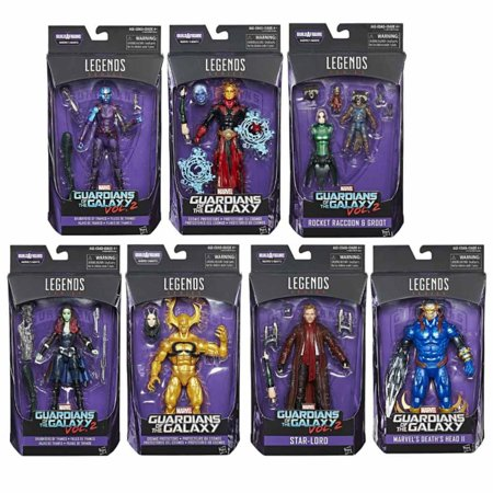 [ Star Lord - Death's Head - Nebula - Gamora - Adam Warlock - Ex Nihilo - Rocket Raccoon w/ Toddler Groot ] Guardians of the Galaxy Marvel Legends Action Figure (Mantis Set) Movie Merchandise Toy