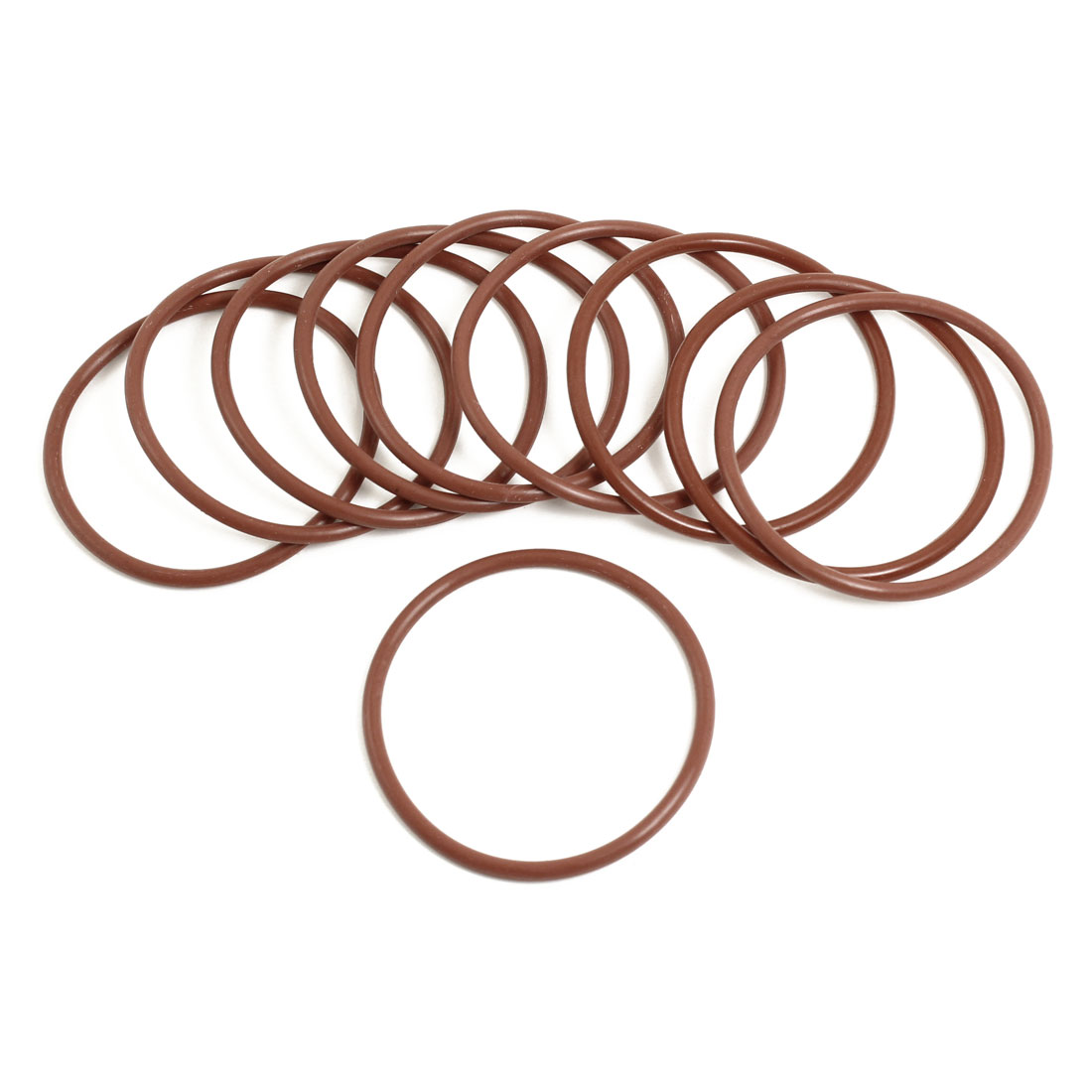 Unique Bargains 10 Pieces Soft Rubber O Rings Seal Washers Replacement Red 55mm x 3mm