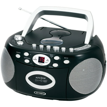 Ipod Sound System Reviews (Jensen Portable Bluetooth Cd Player AM/FM Radio Tuner Mega Bass Reflex Stereo Sound System Plus Superior 6ft Aux Cable to Connect Any Ipod, Iphone or Mp3 Digital Audio Player )