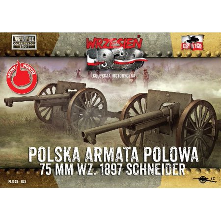1/72 WWII 75mm Wz1897 Schneider Polish Field Cannon (2) - image 1 de 1