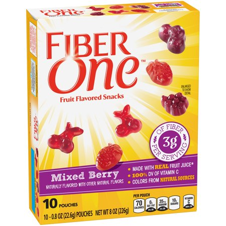 Fiber One Fruit Flavored Snacks Mixed Berry 10   0 8 Oz Pouches