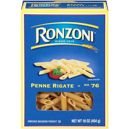 Ronzoni No. 76 Penne Rigate Pasta, 16-Ounce Box
