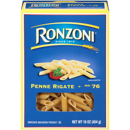 (4 pack) Ronzoni No. 76 Penne Rigate, 16-Ounce Box
