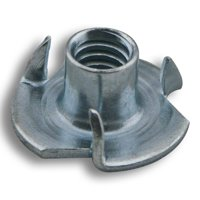 1/4 in. -20 tpi x 5/16 in. L 3-Prong Zinc-Plated Tee Nut (100-Pack)