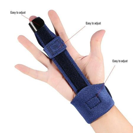 Garosa Adjustable Finger Brace, Adjustable Finger Splint Metacarpal Fracture Healing Mallet Finger Correcting Support Brace - image 5 de 8