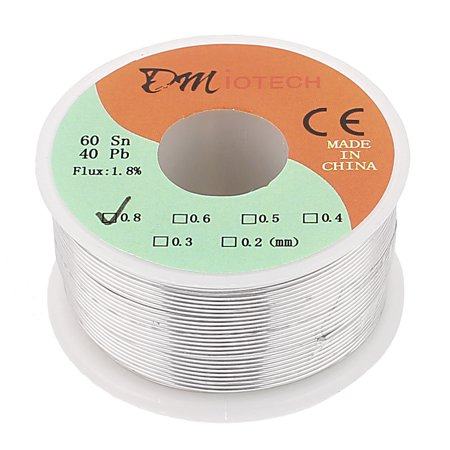 0.8mm 150G 60/40 Rosin Core Tin Lead Roll Soldering Solder Wire - image 2 of 2