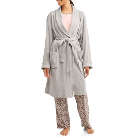 Etymology - Etymology Women s Jersey Knit Waffle Weave Robe - Walmart.com 8c179ee72