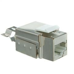 Shielded Cat5e Keystone Jack, RJ45 Female to 110 Punch Down