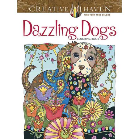 Dazzling Dogs Coloring Book