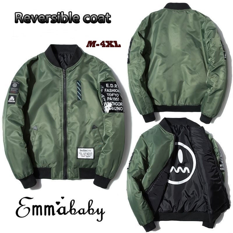Men Army Flight Bomber Air jacket boys MA1 Fashion Embroidered Outwear Coats