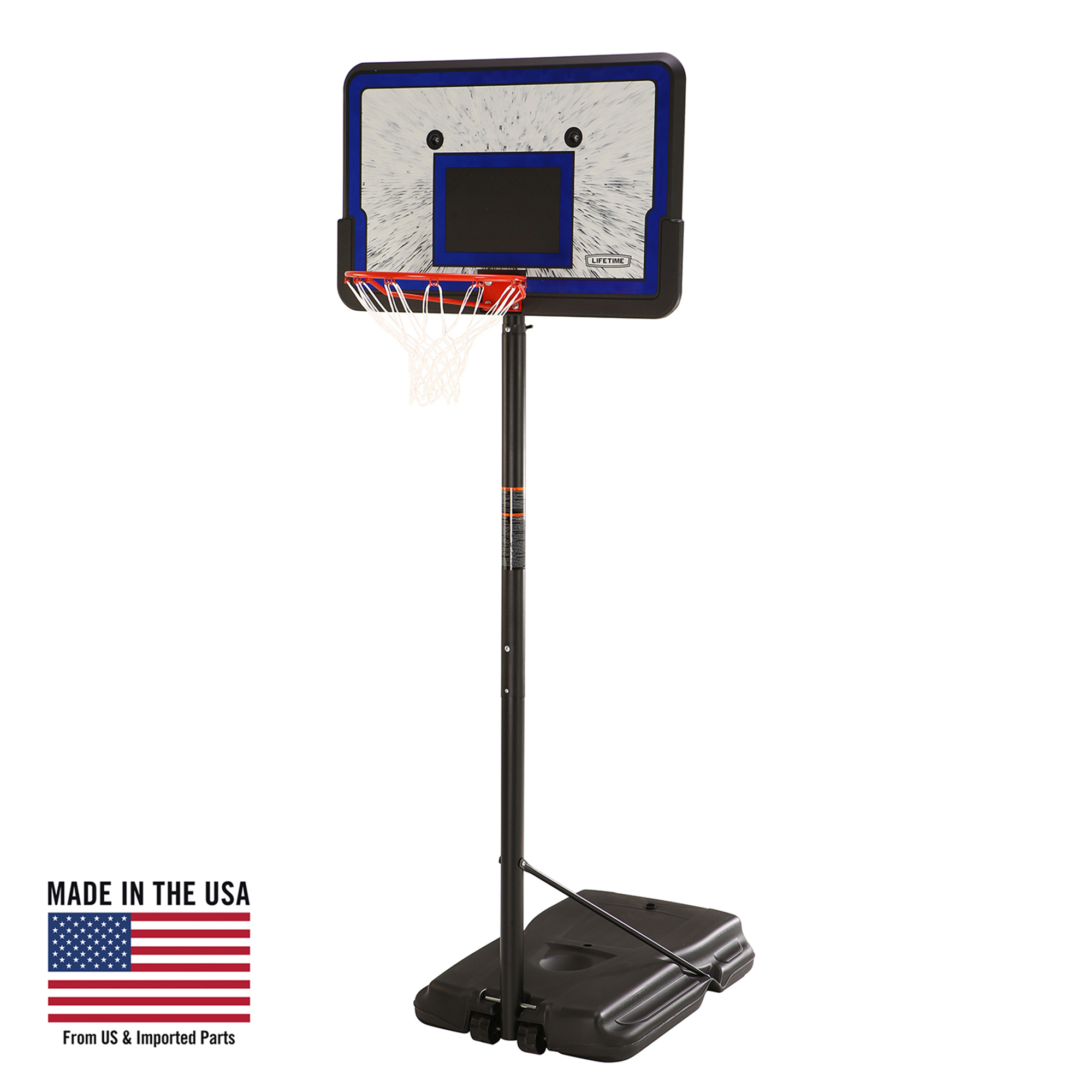 "Lifetime 44"" Portable Adjustable Height Basketball Hoop System, 1221"