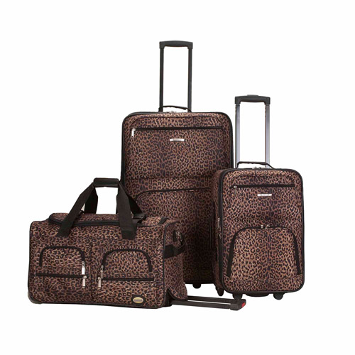 Rockland Luggage Spectra 3-Piece Rolling Luggage Set