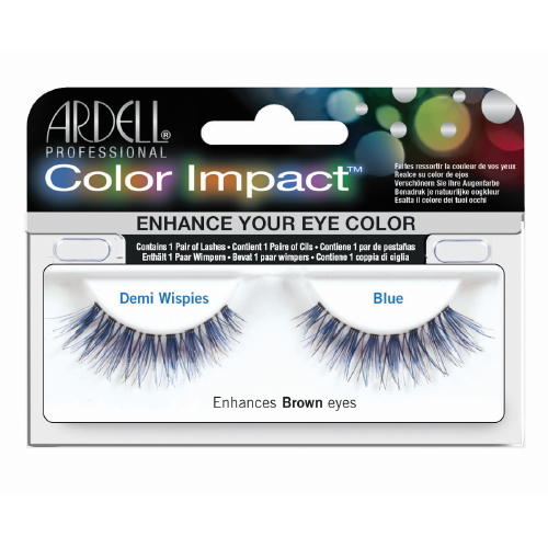 (6 Pack) ARDELL Color Impact False Lashes - Blue Demi Wispies