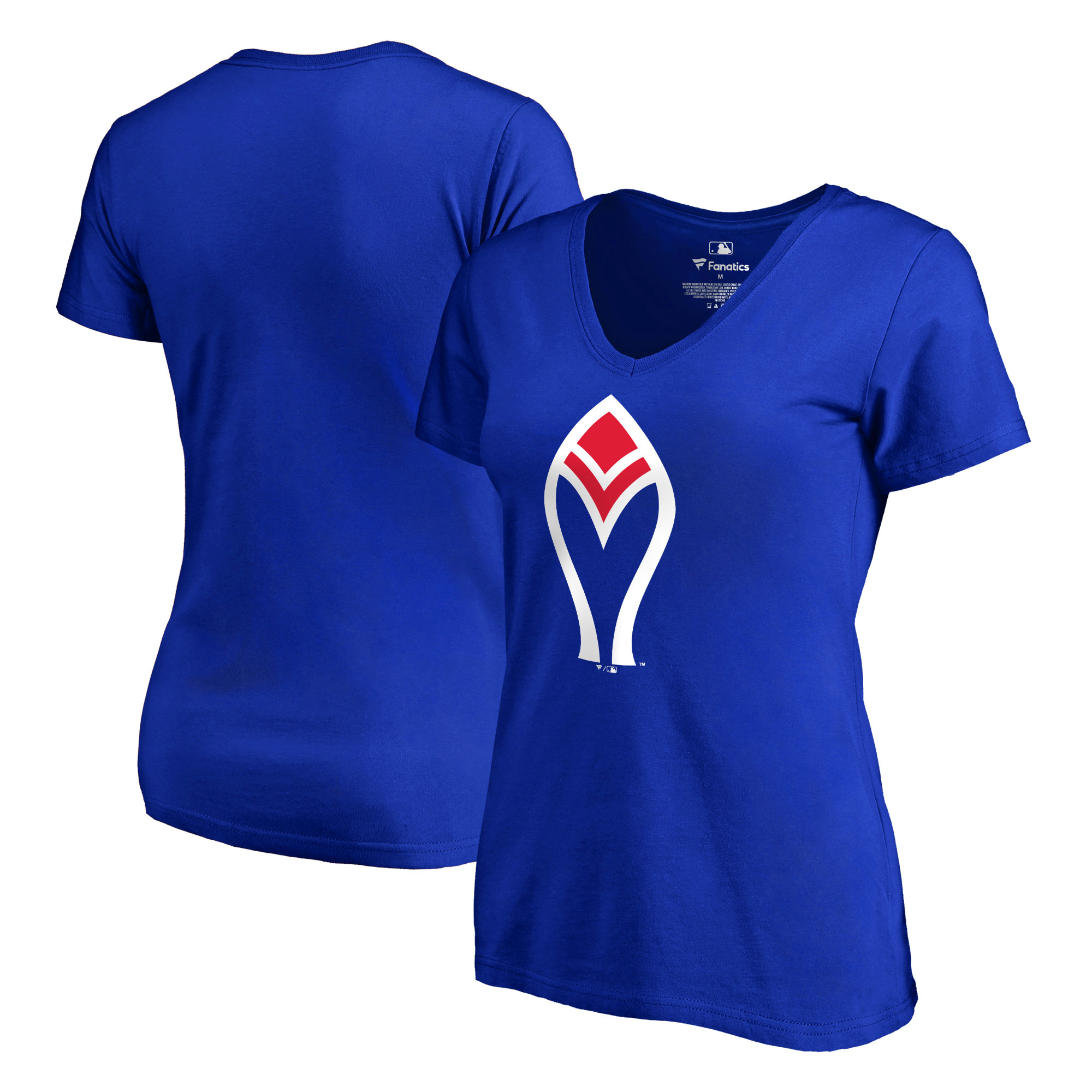 Atlanta Braves Fanatics Branded Women's Plus Size Cooperstown Collection Forbes V-Neck T-Shirt - Royal