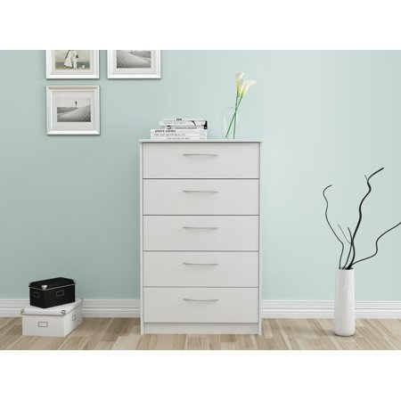 Homestar Finch Collection 5-Drawer Dresser, Multiple